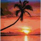 BEACH SUNSET CROSS STITCH PATTERN PDF ONLY