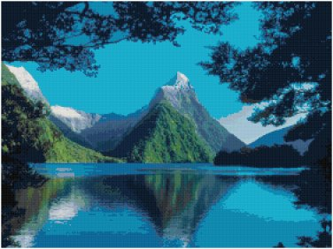 NEW ZEALAND #1 LANDSCAPE CROSS STITCH PATTERN PDF ONLY