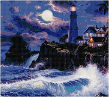 LIGHTHOUSE #1 LANDSCAPE CROSS STITCH PATTERN PDF ONLY