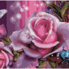 ROSES AND BUTTERFLIES CROSS STITCH PATTERN PDF ONLY