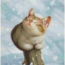 CAT IN THE SNOW CROSS STITCH PATTERN PDF ONLY
