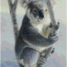KOALA BEAR #2 CROSS STITCH PATTERN PDF ONLY
