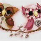 OWLS IN LOVE #1 STITCH PATTERN PDF ONLY