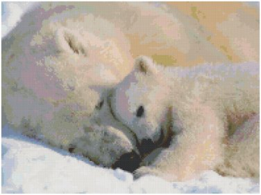 POLAR BEAR AND BABY STITCH PATTERN PDF ONLY