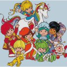 RAINBOW BRITE GROUP CROSS STITCH PATTERN PDF ONLY