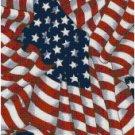 AMERICAN FLAG CROSS STITCH PATTERN PDF ONLY