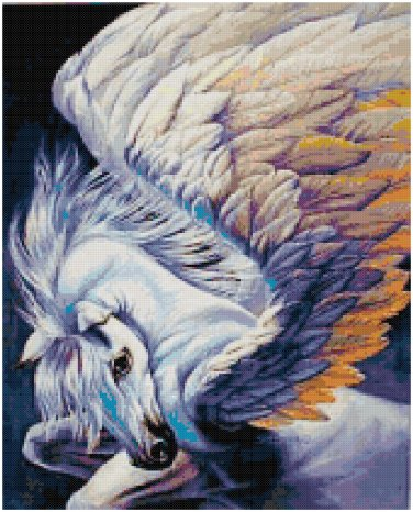 PEGASUS CLOSE UP CROSS STITCH PATTERN PDF ONLY