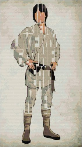 STAR WARS LUKE SKYWALKER CROSS STITCH PATTERN PDF ONLY