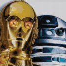 STAR WARS R2D2 AND C3PO CROSS STITCH PATTERN PDF ONLY
