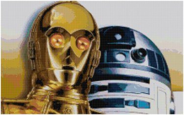 STAR WARS R2D2 AND C3PO CROSS STITCH PATTERN PDF ONLY