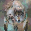 WOLF DREAMCATCHER #2 CROSS STITCH PATTERN PDF ONLY