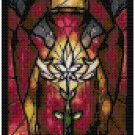 DISNEY GOTHEL RAPUNZEL STAINED GLASS  CROSS STITCH PATTERN PDF ONLY