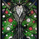 DISNEY JACK SKELLINGTON NIGHTMARE BEFORE CHRISTMAS STAINED GLASS  CROSS STITCH PATTERN PDF ONLY