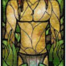 DISNEY TARZAN STAINED GLASS  CROSS STITCH PATTERN PDF ONLY