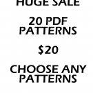 20 PATTERNS $20 YOU PICK ANY PATTERNS CROSS STITCH PATTERN PDF ONLY