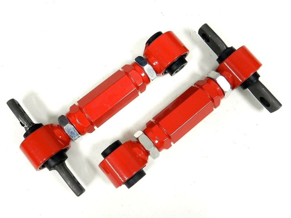 RED RACING REAR ADJUSTABLE CAMBER ARMS KIT FOR 88-00 CIVIC / 90-01 INTEGRA