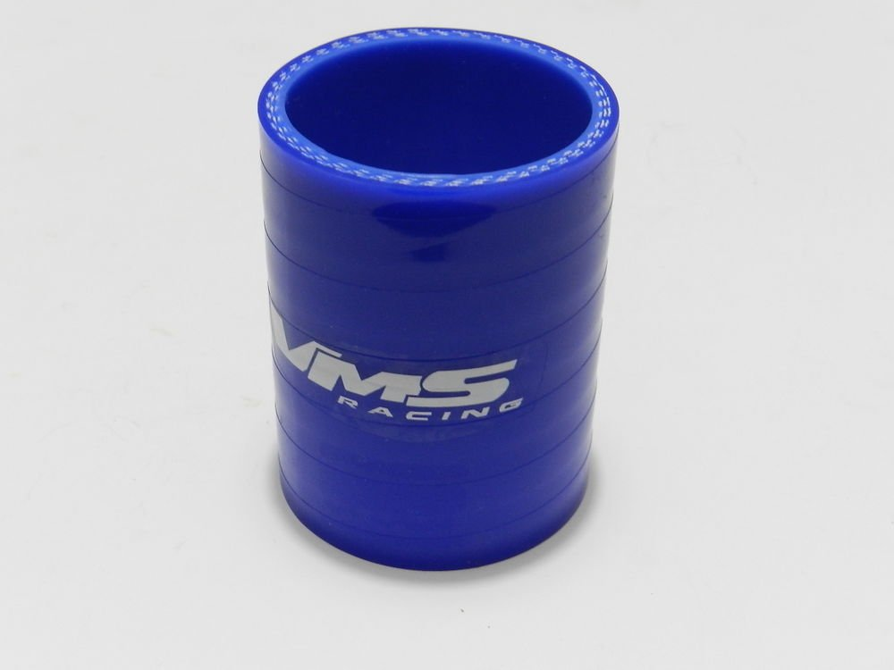 """VMS RACING 3 PLY REINFORCED SILICONE STRAIGHT COUPLER 2-2.5"""" BLUE"""