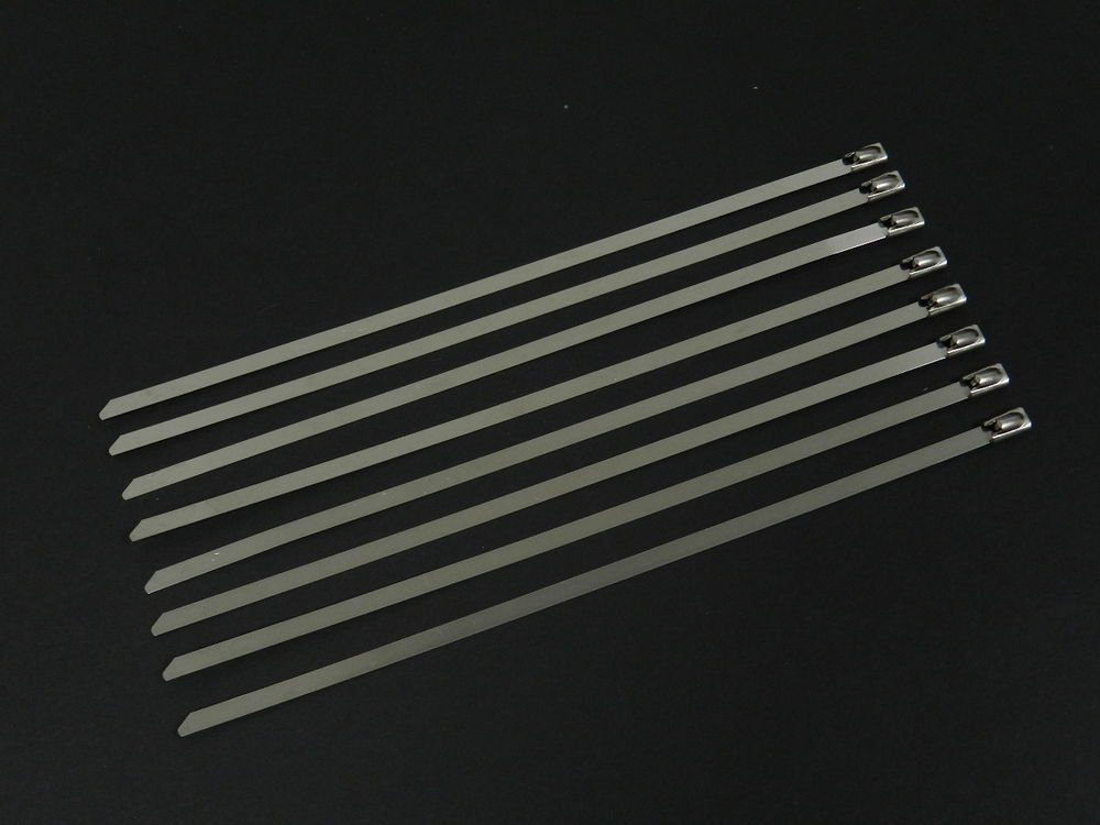 """X6 UNIVERSAL 8"""" STAINLESS STEEL ZIP TIE CABLE FOR DOWNPIPE INTERCOOLER PIPING"""