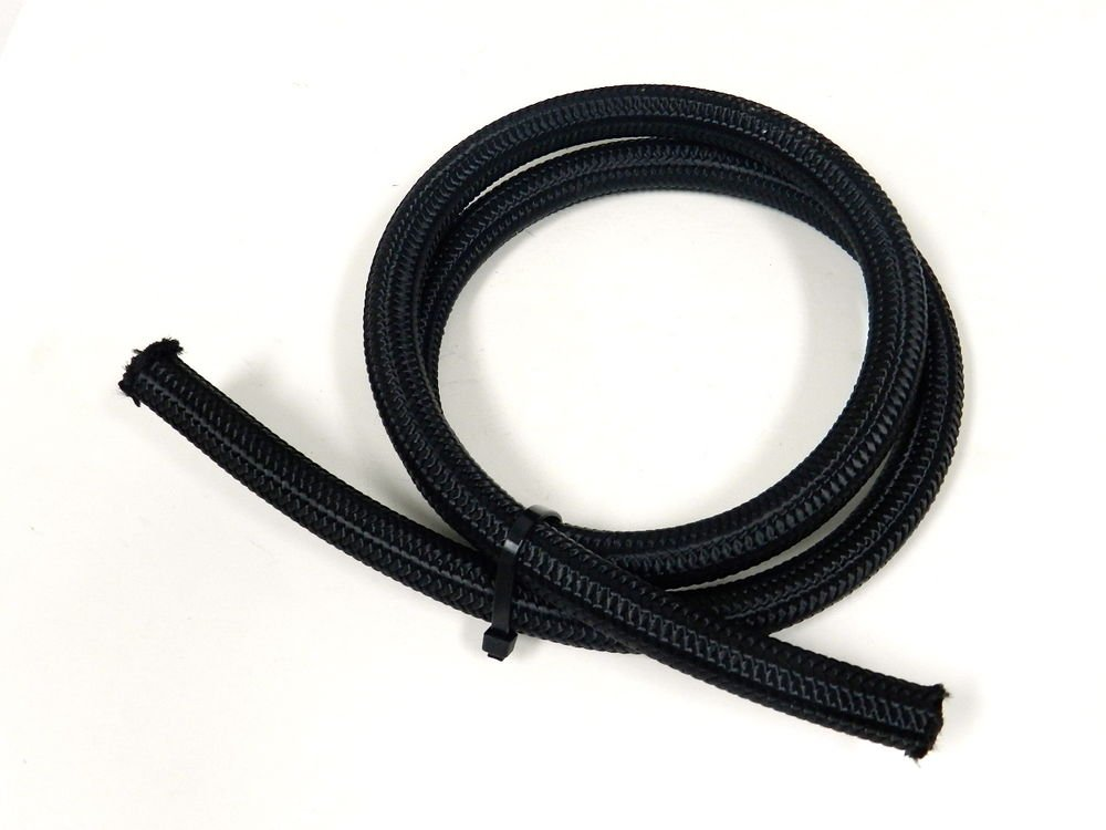5FT -4 4AN BLACK NYLON BRAIDED OIL FUEL WATER HOSE LINE 15K PSI
