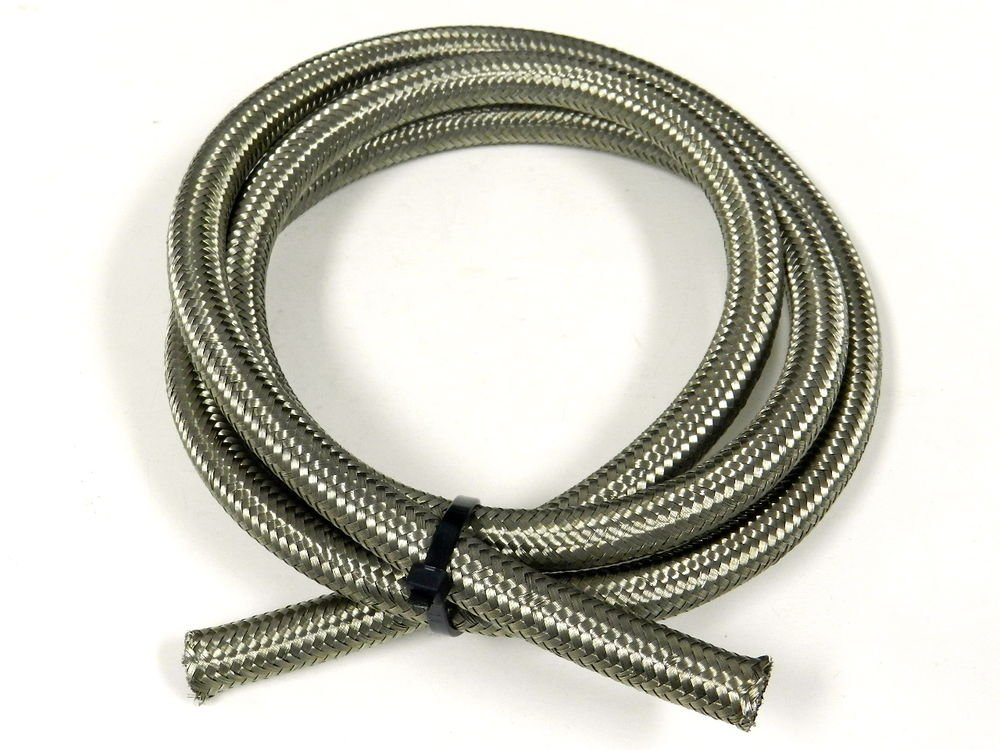 5FT -12 12AN STAINLESS STEEL BRAIDED OIL FUEL WATER HOSE LINE 15K PSI