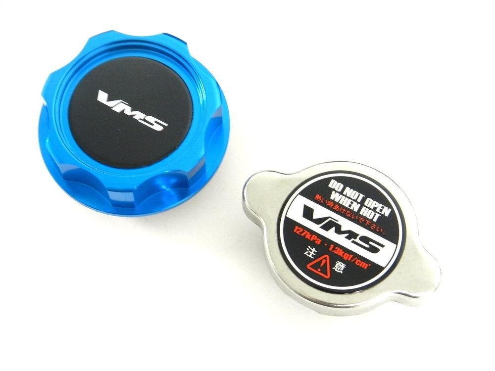 VMS RACING BLUE OIL CAP + RACING RADIATOR CAP HONDA ACURA B