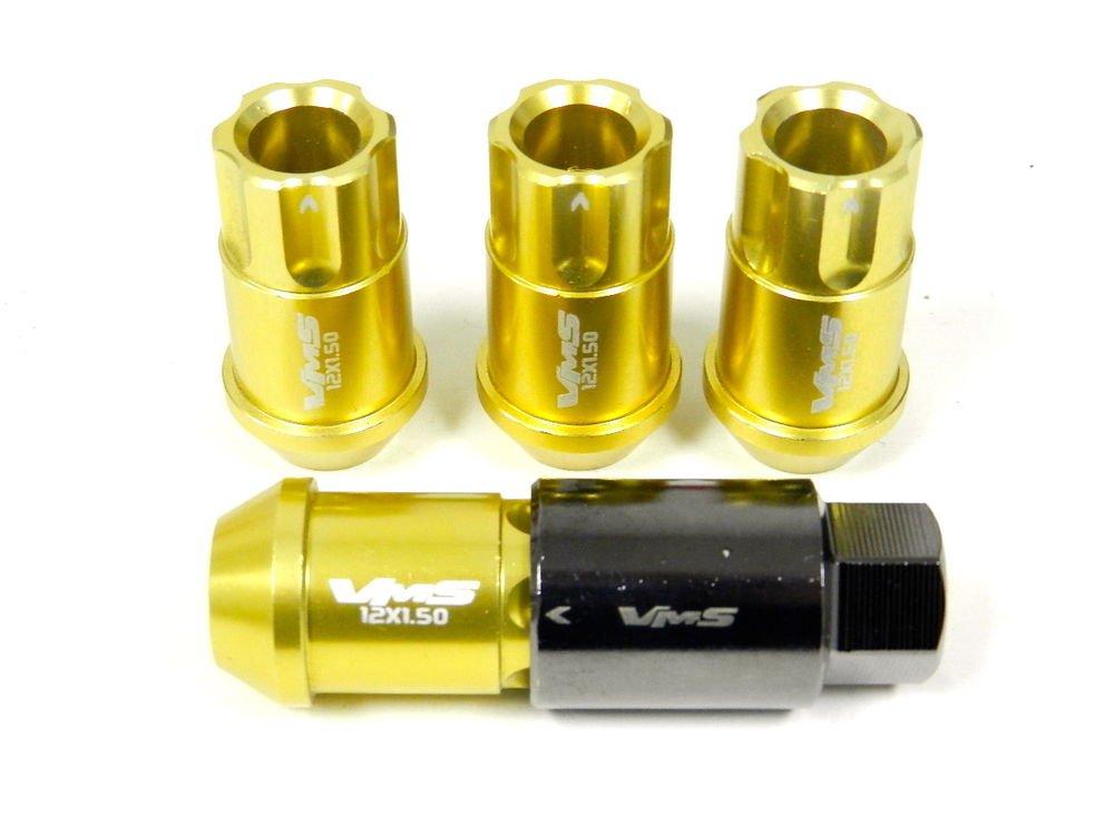 GOLD 20PC LOCKING LUG NUTS WITH KEY 08-14 HYUNDAI GENESIS 2.0 3.8 4CYL V6 TURBO