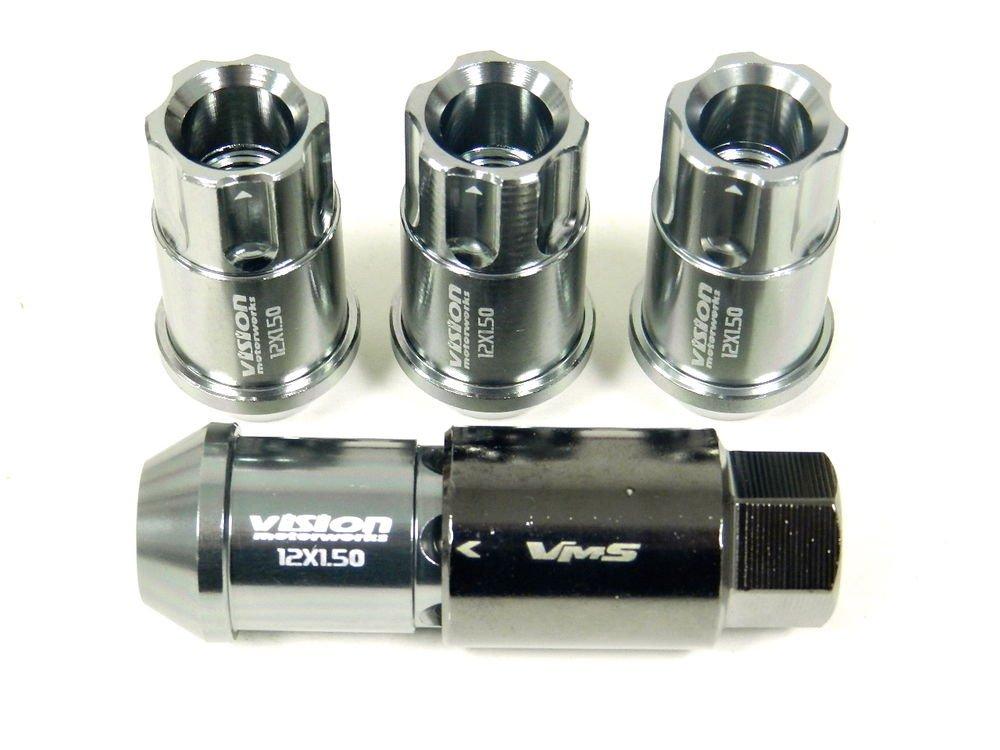 GUNMETAL 20PC LOCKING LUG NUTS KEY 08-14 HYUNDAI GENESIS 2.0 3.8 4CYL V6 TURBO