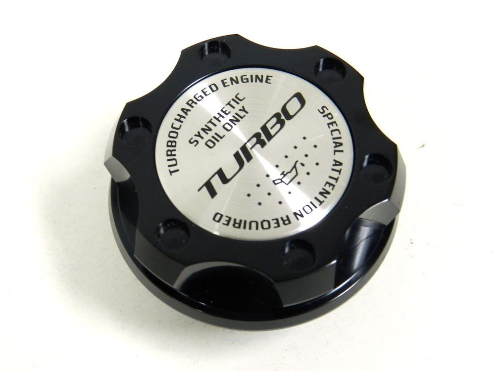 BLACK TURBO BILLET RACING ENGINE OIL FILLER CAP FOR MAZDA