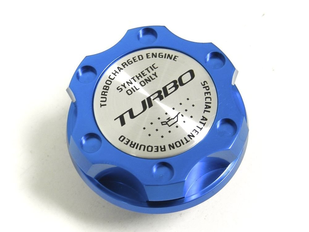 BLUE TURBO BILLET RACING ENGINE OIL FILLER CAP FOR SUBARU