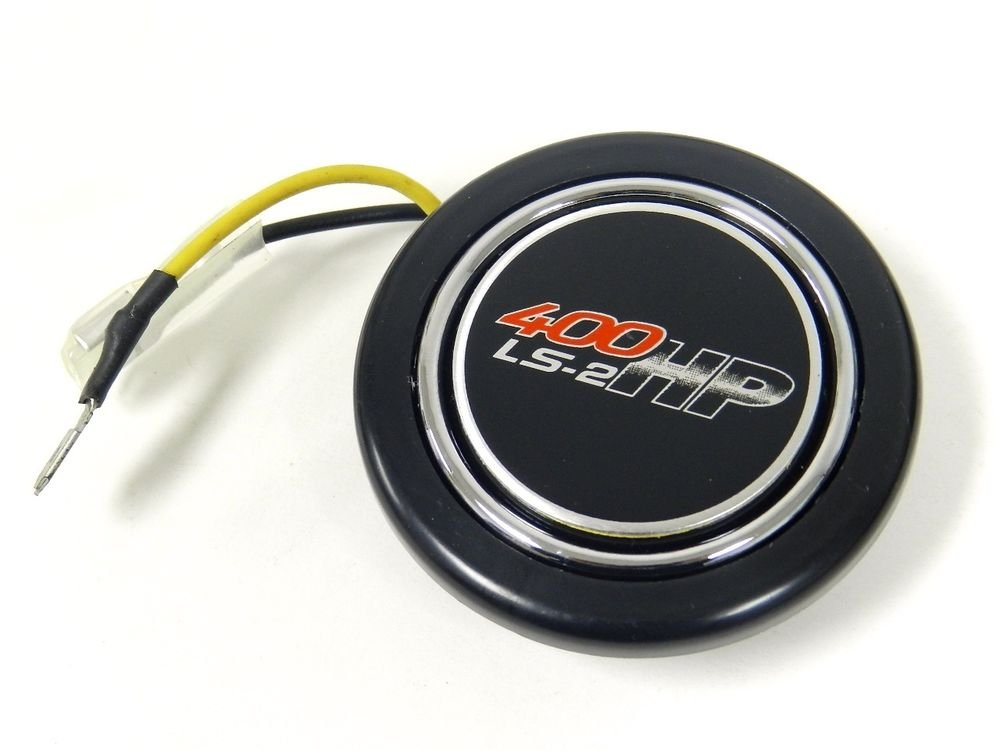 "CHEVY GM 400 HP LS2 UNIVERSAL 2"" RACING STEERING WHEEL HORN BUTTON"