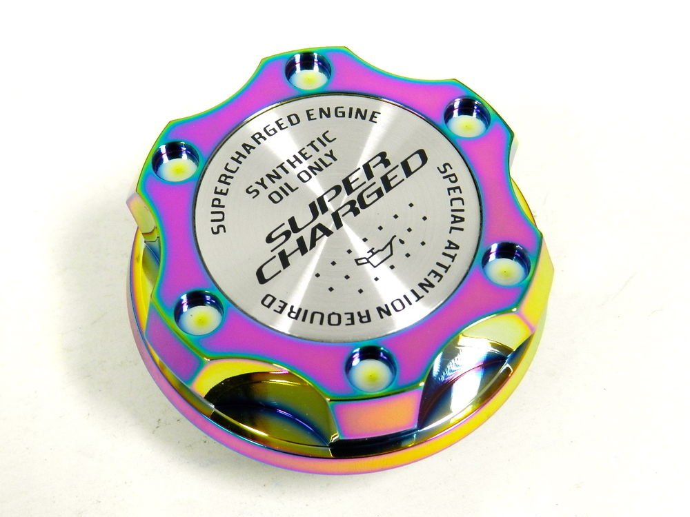 NEO CHROME SUPERCHARGED BILLET CNC RACING ENGINE OIL FILLER CAP FOR MITSUBISHI