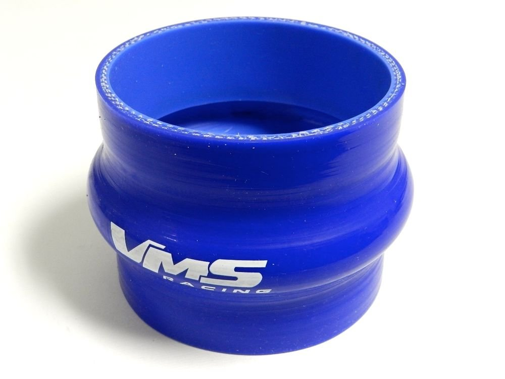 """VMS RACING 3 PLY REINFORCED SILICONE STRAIGHT HUMP COUPLER 4"""" BLUE"""