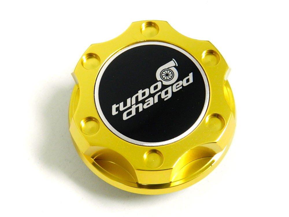 GOLD TURBOCHARGED BILLET RACING ENGINE OIL FILLER CAP FOR NISSAN INFINITI