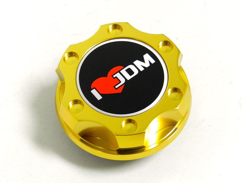 GOLD I LOVE JDM BILLET RACING ENGINE OIL FILLER CAP FOR NISSAN INFINITI