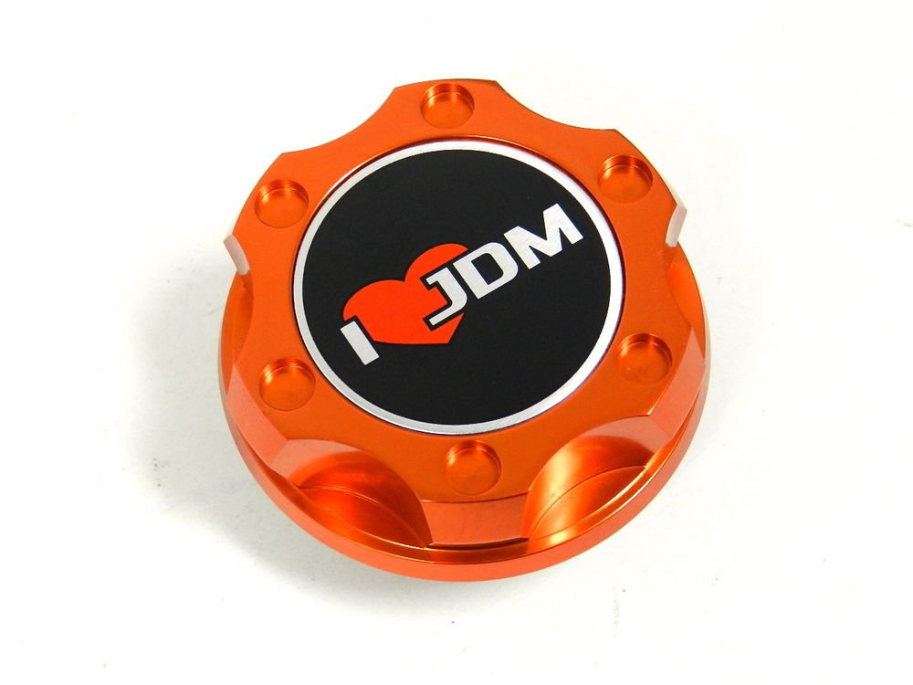 ORANGE I LOVE JDM BILLET RACING ENGINE OIL FILLER CAP FOR NISSAN INFINITI