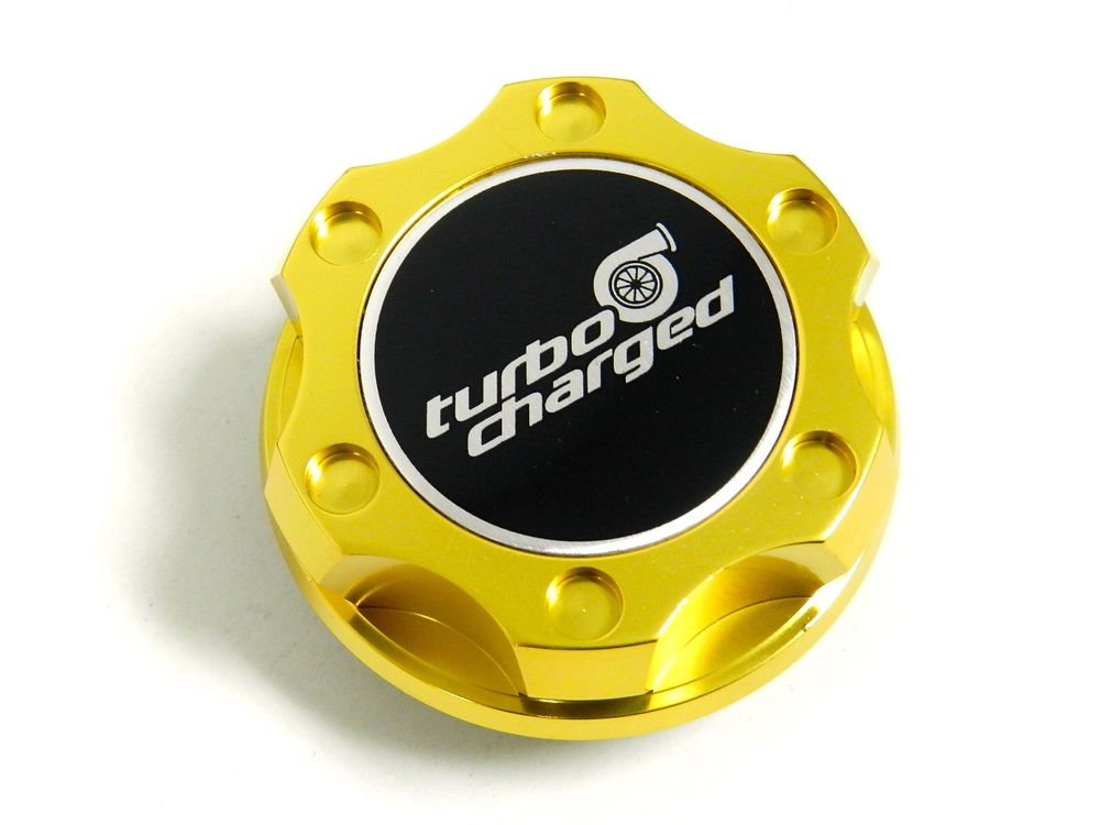 GOLD TURBOCHARGED BILLET CNC RACING ENGINE OIL FILLER CAP FOR HONDA ACURA