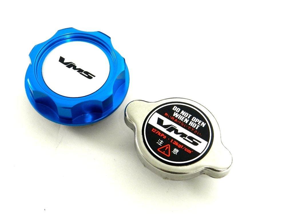 VMS RACING BLUE OIL CAP + RACING RADIATOR CAP NISSAN INFINITI S