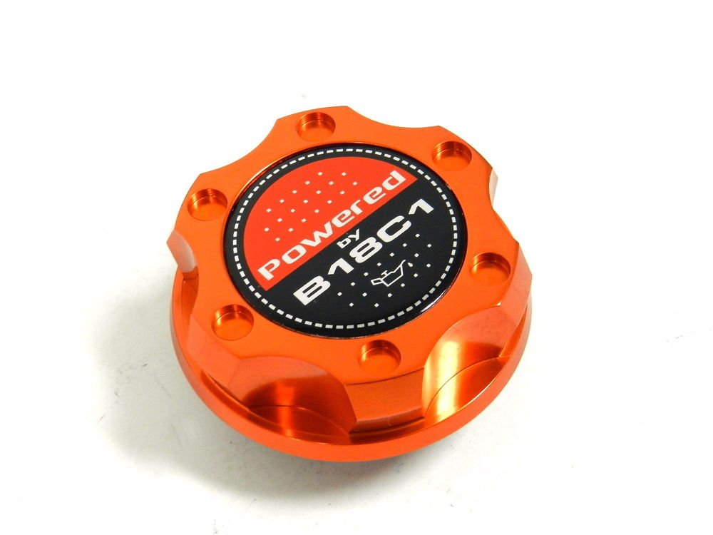 ORANGE BILLET CNC RACING ENGINE OIL FILLER CAP ACURA INTEGRA B18C1