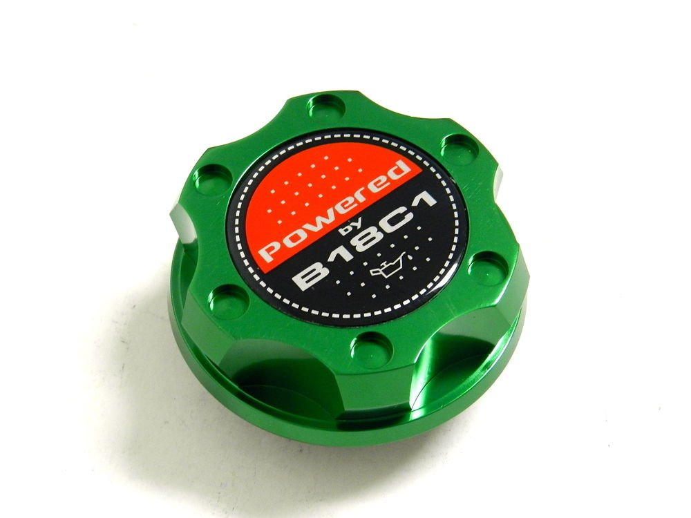 GREEN BILLET CNC RACING ENGINE OIL FILLER CAP ACURA INTEGRA B18C1