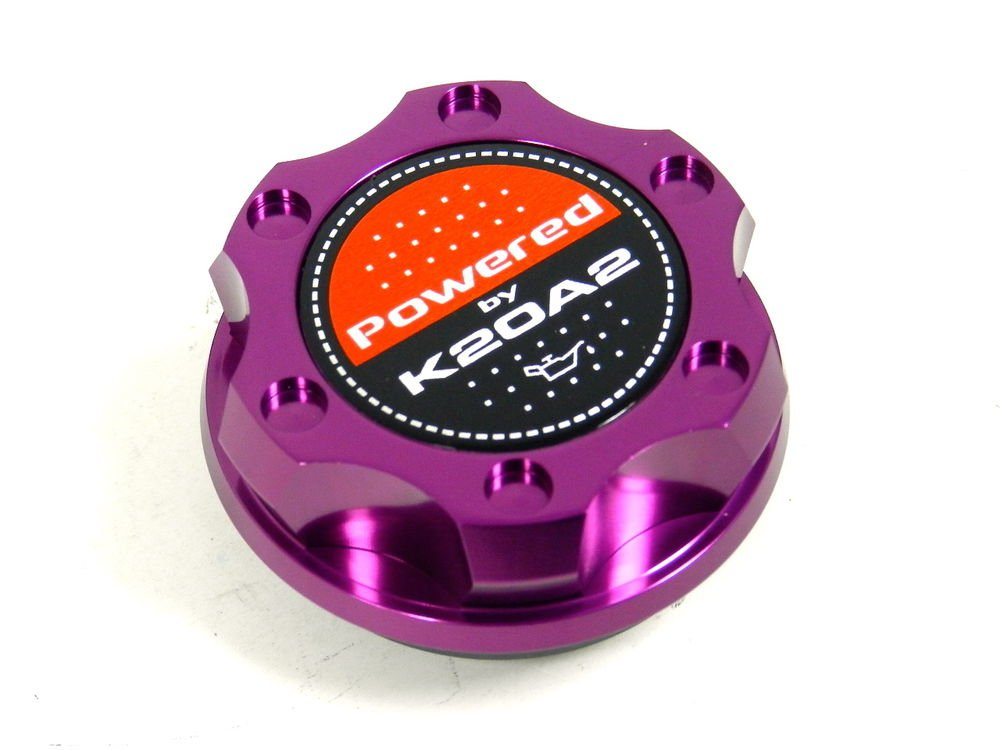 PURPLE BILLET CNC RACING ENGINE OIL FILLER CAP HONDA CIVIC RSX K20A2