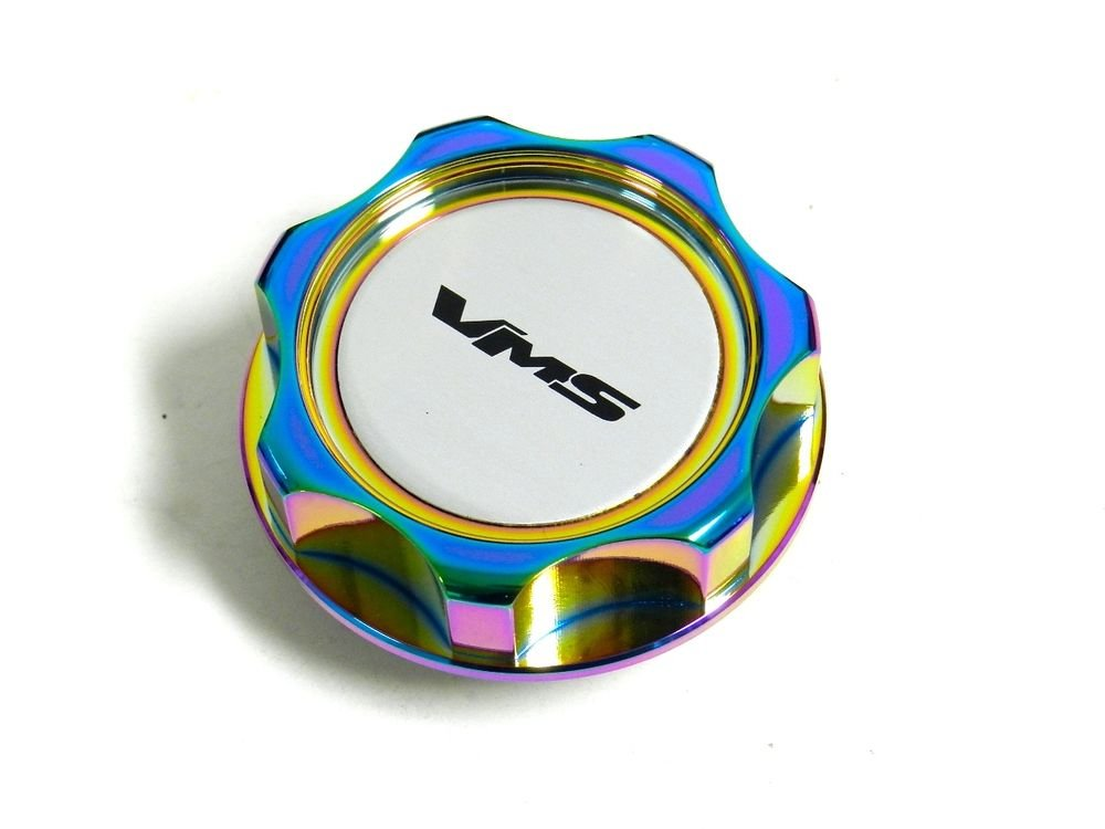 VMS RACING NEO CHROME BILLET CNC RACING ENGINE OIL FILLER CAP FOR MITSUBISHI S