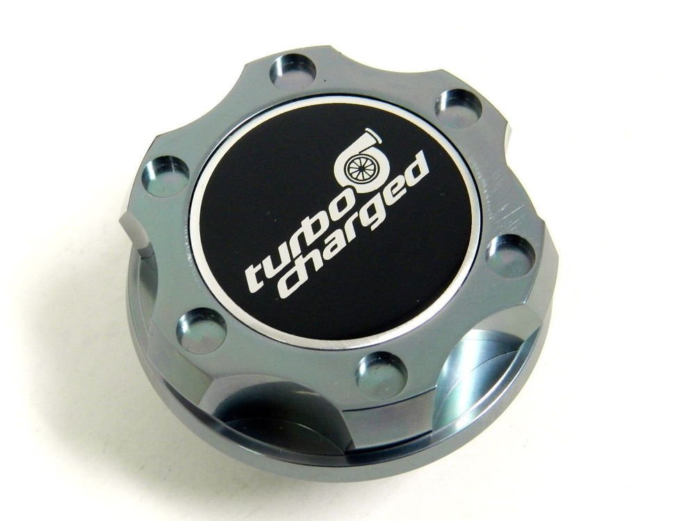 GUNMETAL TURBOCHARGED BILLET RACING ENGINE OIL FILLER CAP FIAT 500 / DODGE DART