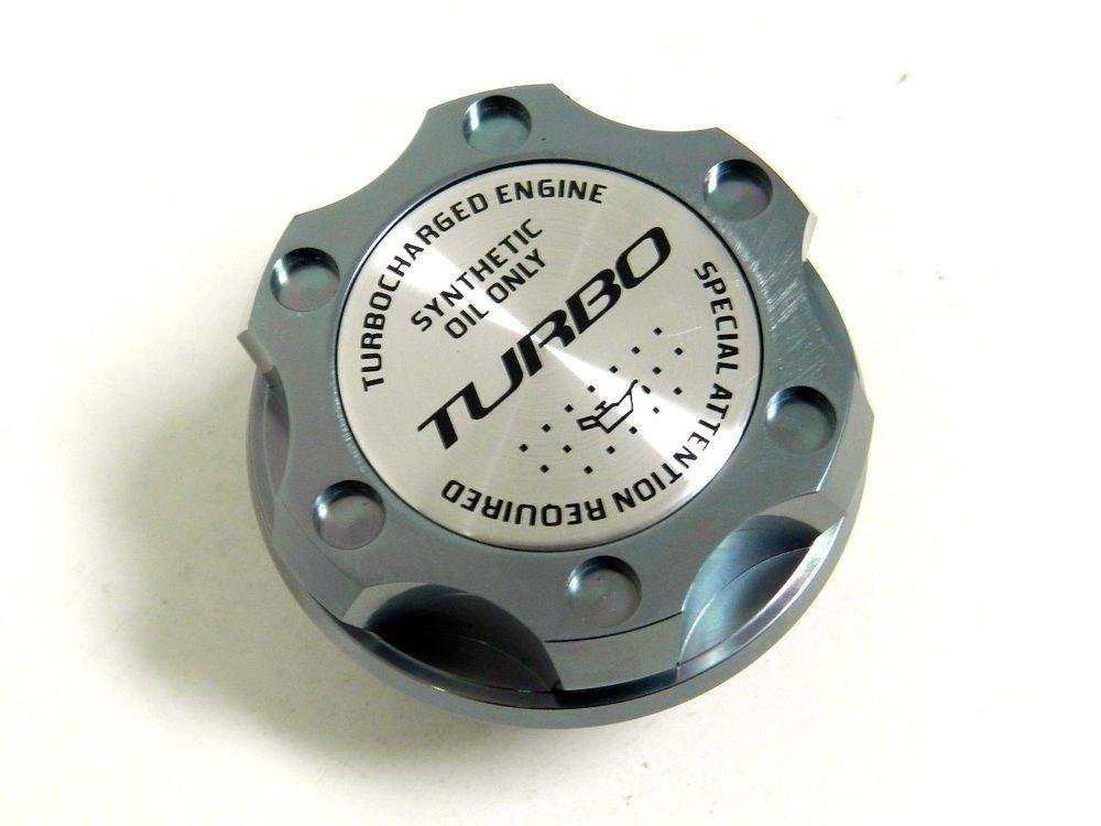 GUNMETAL TURBO BILLET RACING ENGINE OIL FILLER CAP FOR FIAT 500 DODGE DART 1.4L