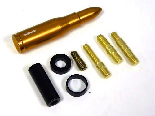 "GOLD UNIVERSAL 223 CALIBER BULLET SHORT STUBBY SCREW IN ANTENNA 3"" - SUBARU"