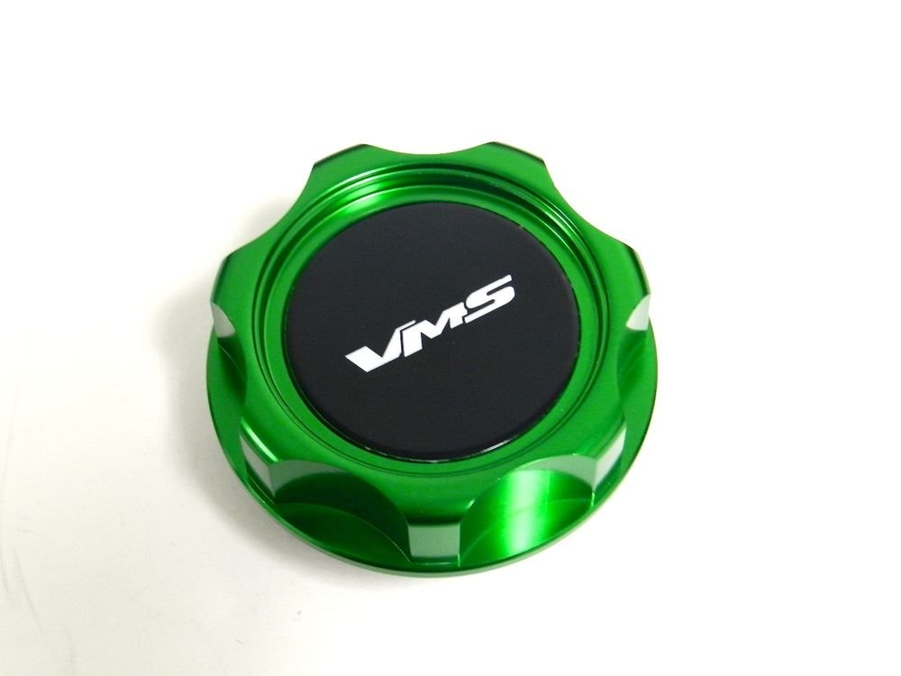 VMS RACING GREEN BILLET CNC ENGINE OIL FILLER CAP FOR HONDA ACURA M7 B