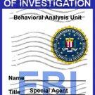 "FBI Badge ""Criminal Minds"" Personalized"