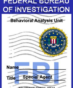 FBI Badge �Criminal Minds� Personalized