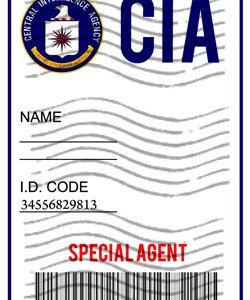 CIA Badge �Person of Interest� Personalized