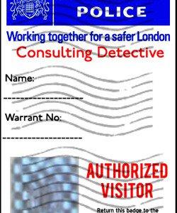 British Police Badge �Sherlock� Personalized