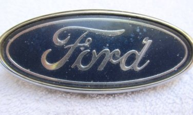 """Ford OEM 3.8 x 1.5"""" Blue Oval Emblem Badge Grille for Contour and Others"""